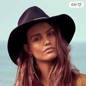 NWOT Free People Nikki Beach Chocorua Felt Hat